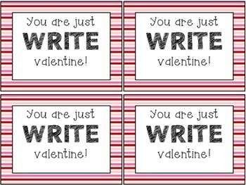 You are just WRITE valentine!