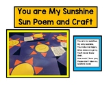 You are my Sunshine craft and poem