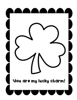 You are my lucky charm/St. Patricks Day Craft
