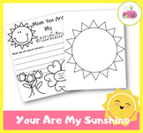 You Are My Sunshine Mother's Day printable and Flip Card