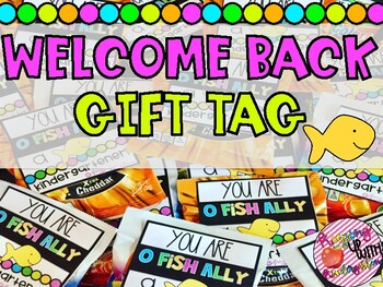 You are o-FISH-ally a ________Grader! Student gift tags!