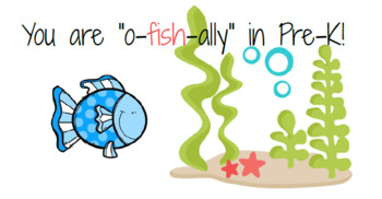 """You are """"o-fish-ally"""" in Pre-K! Goldfish Tag"""