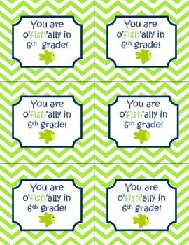 You are o'fish'ally in  grade (kindergarten-5th grade) tags