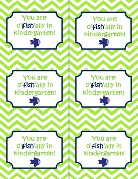 You are o'fish'ally in  grade (kindergarten-5th grade) tags