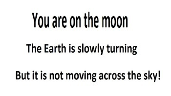 You are on the moon...classroom activity