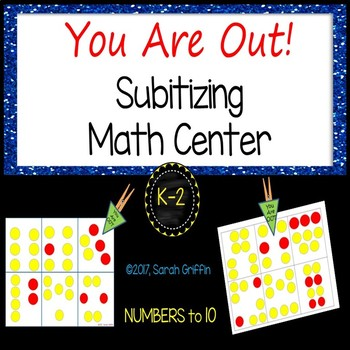 You are out! ~ Dot Cards Subitizing Activity for Numbers to 10
