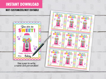 You are so SWEET Gift Tag, Candyland, Bubble Gum Machine Exchange Gift Ideas