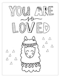 You are so loved - fun coloring page