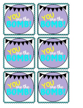 Gift Tag-You are the BOMB!