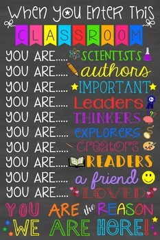 You are the Reason Classroom Poster