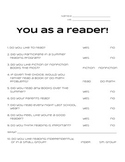 You as a Reader - Reading Survey
