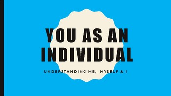 You as an Individual