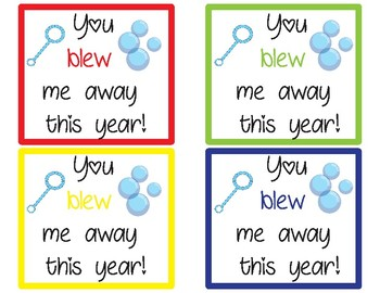 You blew me away! Bubble Tags