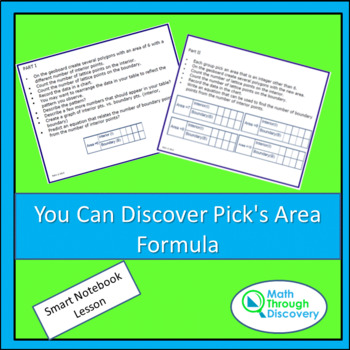 Geometry:  You Can Discover Pick's Area Formula