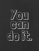 You can do it Poster