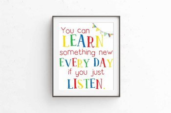 You can learn something new quote, Learning quote, Circus theme, 8x10 jpg & pdf