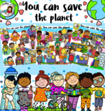 You can save the planet! -Earth day clip art-