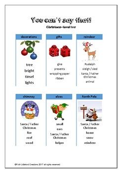 You can't say that! A fun taboo type speaking activity - CHRISTMAS