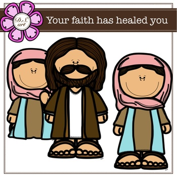 You faith has healed you digital Clipart (color and black&white)