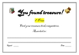 You found treasure certificates
