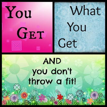 You get what you get and you don't throw a fit! collage 1
