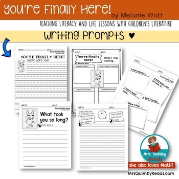 You're Finally Here!   Book Companion   Writing Prompts