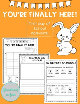 You're Finally Here! First Day of School Activities!