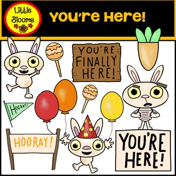 You're Here Clip Art