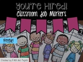 You're Hired Classroom Job Markers