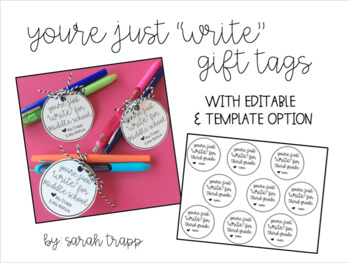 """You're Just """"Write"""" Gift Tags"""