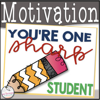 You're One Sharp Student- Motivational Tags
