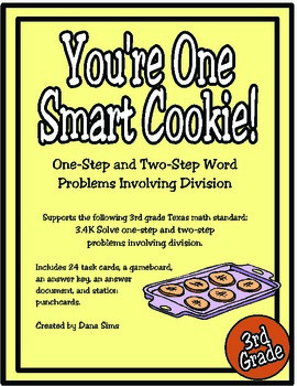 You're One Smart Cookie: 3rd Grade Division Word Problems