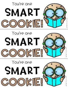 You're One Smart Cookie Gift Tag FREEBIE