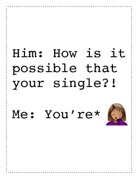 You're Single Grammar Poster