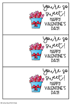 You're So Sweet Valentine Gift Tag!