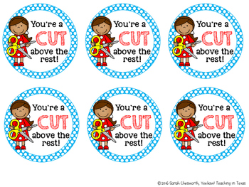 You're a Cut Above the Rest Gift Tag