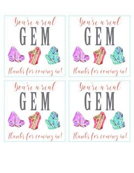 You're a GEM!