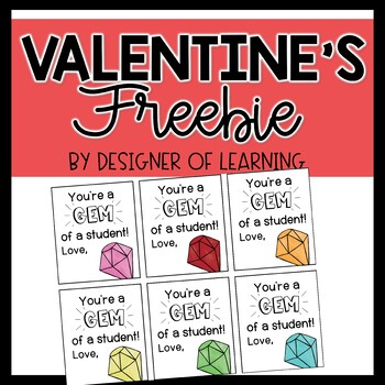 You're a Gem Valentine's Tag Freebie