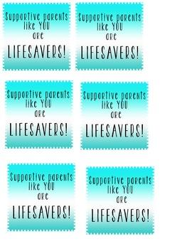 "You're a ""Lifesaver"" Printable"