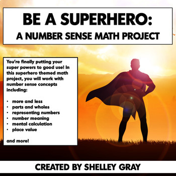 Be a Superhero: Number Sense Math Project | Real Life Math | Distance Learning