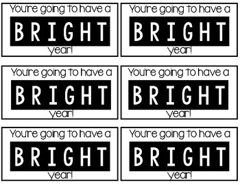 You're going to have a BRIGHT year tags