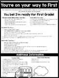 You're on Your Way to First Grade!  {a freebie parent flier}