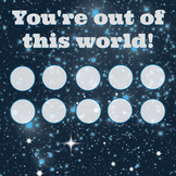You're out of this world 10-spot sticker chart or token board