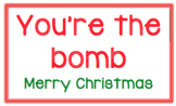 You're the Bomb Christmas Tags