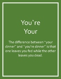 You're vs. Your Poster