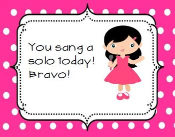 """""""You sang a solo!"""" singing certificates {freebie}"""