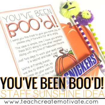 You've Been BOO'd! {Staff Sunshine}