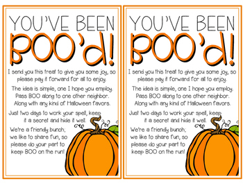 You've Been BOO'd! {Staff Sunshine}