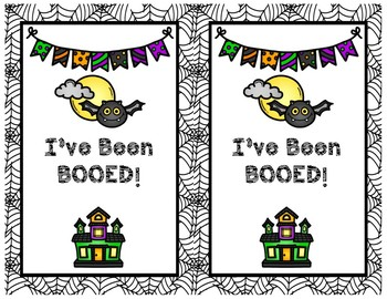 You've Been BOOED!  Fun Halloween Tradition With Neighbors or Colleagues!