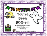You've Been BOO-ed!  A Fun and Sneaky Halloween Tradition!